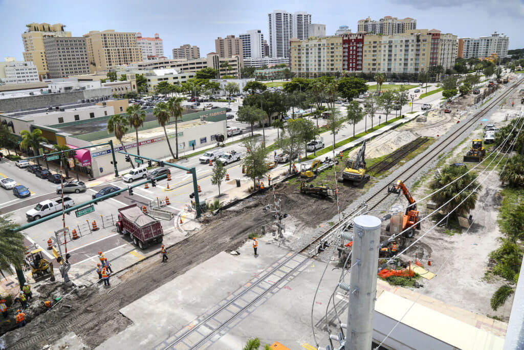 Downtown West Palm Beach parking lot and pavement projects