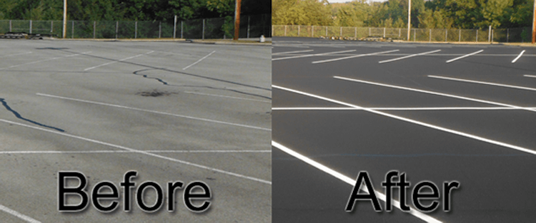 South Florida seal coat company for parking lots and driveways