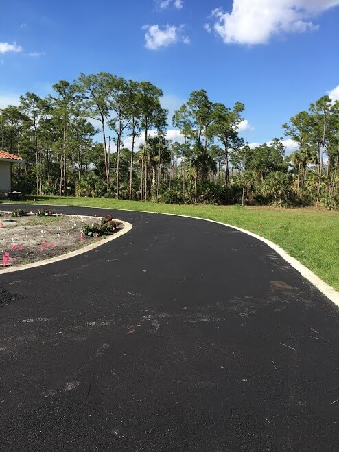 resurfaced driveway in Palm Beach County