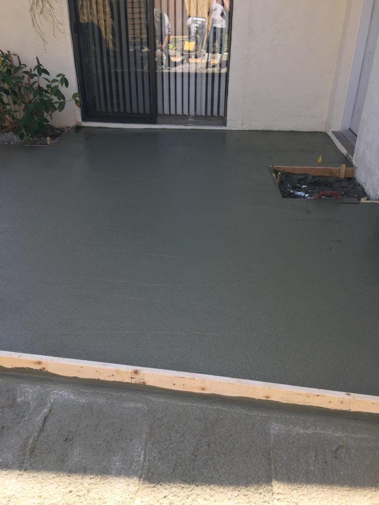 Concrete patio installer South Florida